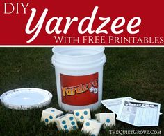 Learn how to make your own outdoor Yahtzee (aka Yardzee) game for hours of fun with your whole family. These also make amazing Christmas Gifts!