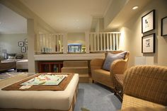 Again- a raised platform area for a distinctive space... even at one end of Main Kids room ?