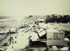 Rudi Weissenstein, Strandpromenade in Tel Aviv Mitte der 30er Jahre.