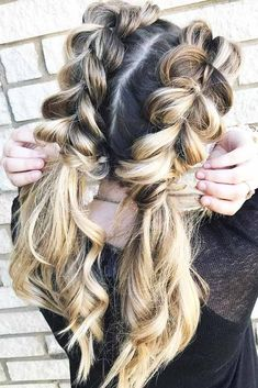 Create a perfect hairdo with the help of a braided ponytail. Cute Braided Hairstyles, African Braids Hairstyles, Braided Ponytail, Little Girl Hairstyles, Summer Hairstyles, Hairstyles 2016, Curly Homecoming Hairstyles, Heatless Hairstyles, Medium Hairstyle