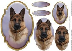 German Shepherd Topper and Tag on Craftsuprint - View Now!