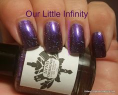 Glittery Fingers & Sparkling Toes: Lyn B. Designs Our Little Infinity Great Nails, Fabulous Nails, Love Nails, Beautiful Nail Polish, Nail Art Images, Innovative Ideas, Nail Envy, Toe Nail Designs, Types Of Nails