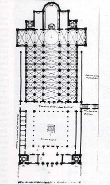 Ricostruzione del progetto di Bernardo Rossellino per San Pietro