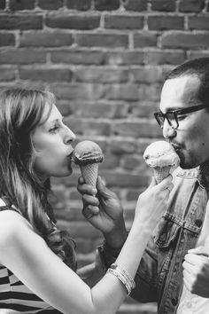 Sweet Ice Cream Parlor Engagement Session in California | Images by Ashley Tingley Photography