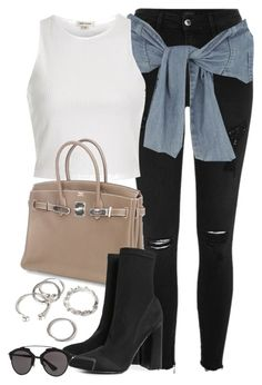 """Sin título #12339"" by vany-alvarado ❤ liked on Polyvore featuring River Island, Hermès, Boohoo, Forever 21 and Christian Dior"