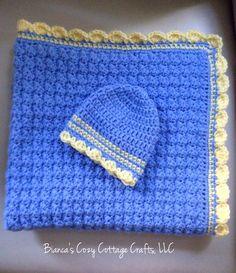 A personal favorite from my Etsy shop https://www.etsy.com/listing/243606080/crochet-baby-blanket-stroller-blanket
