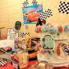 Cars themed candy buffet for Jake's birthday :)