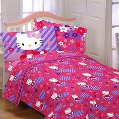 Fun bed sheets http://www.welovekitty.com/hello-kitty-bed-sheets/