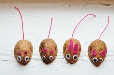 Christmas mice - red ears & tail (maybe a hanging tail for the tree)