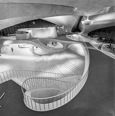 GLORIOUS PHOTOS OF TWA TERMINAL FROM THE GOLDEN AGE OF AIR TRAVEL  This was the era when air travel became more comfortable and ground facilities were improved. It was also when Finnish architect and industrial designer Eero Saarinen designed the Trans World Airlines terminal.