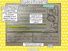 Leveled passages, lesson plans and running records that help guided reading go very smoothly in my room!