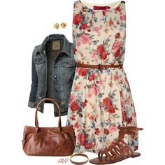 """""""Boohoo Eleanor Floral Belted Skater Dress"""" by amy-phelps on Polyvore"""