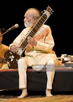 Ravi Shankar performs on stage at Symphony Hall on June 16, 2011 in Birmingham, United Kingdom.