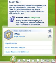 The Family aspiration from The Sims 2 is back!