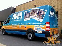 Pet care non-profit fleet vehicle wraps.  Design, print and installation.