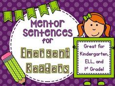 Mentor Sentences Video for Emergent Readers- watch mentor sentences in a Kindergarten ELL class!