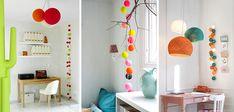 Les guirlandes et luminaires de « La Case de Cousin Paul » sont des accessoires déco parfait pour pimenter murs et plafond blancs. La lumière douce et chaude qui s'en dégage permet d'ajouter quelques touches de la couleur de son choix ! Ces luminaires sont entièrement personnalisables, diamètre, longueur, couleur, on choisit selon son goût. Vous trouverez des exemples en images, du bureau à la chambre, en passant par la cuisine, le salon et l'entrée. A vous de jouer !