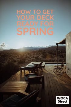 Simple tips to help you get your deck, patio or porch ready for spring, so you're prepared to enjoy it when the timing is right. Outdoor Wood Projects, Girl Bedroom Designs, Lawn And Garden, Get Outside, The Fresh, Backyard Landscaping, Perfect Place, Landscape Design, Outdoor Living