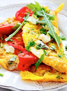 Low FODMAP and Gluten Free Recipe - Tomato & feta omelette       http://www.ibssano.com/low_fodmap_recipe_tomato_goats_cheese_omelette.html