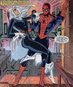 Spider-Man and Black Cat, young and in love (from Spectacular Spider-Man #87)