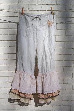 Boho Linen Pants Bloomers
