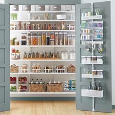 To make the pantry more organized you need proper kitchen pantry shelving. There is a lot of pantry shelving ideas. Here we listed some to inspire you Pantry Shelving, Pantry Storage, Kitchen Storage, Pantry Diy, Small Pantry, White Pantry, Open Shelving, Pantry Makeover, Kitchen Shelves