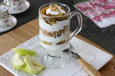 Carmel Apple Yogurt & Granola Parfait. YUM!