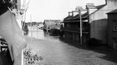 A selection of photos from the 1955 Maitland flood. Maitland Nsw, Australian Photography, Night Terror, Family Night, Family Memories, Back In The Day, Newcastle, Boat, Tours