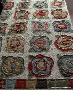 Beautiful quilting on this French Roses quilt