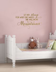 Let her sleep for when she wakes she will by ChickDesignBoutique