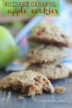 Whiskey Caramel Apple Cookies- Baker Bettie