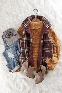 Burgundy Plaid Vest - All About Fashion Moda, Look Fashion, Womens Fashion, Fashion Images, Cheap Fashion, Ladies Fashion, Affordable Fashion, Tomboy Outfits, Casual Outfits