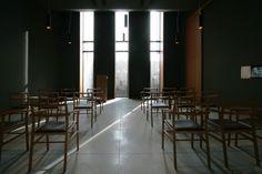 Image 3 of 23 from gallery of New Crematorium in Copparo / Patrimonio Copparo. Courtesy of Patrimonio Copparo Conference Room, Gallery, Table, Inspiration, Furniture, Chairs, Interiors, Home Decor, Architecture