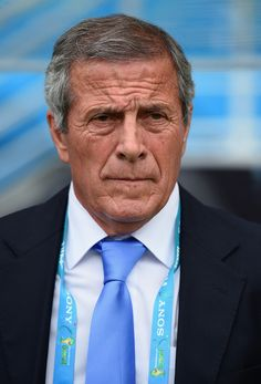 Head coach Oscar Tabarez of Uruguay looks on prior to the 2014 FIFA World Cup Brazil Group D match between Italy and Uruguay