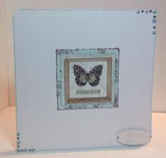 Card designed by Marie Chillmaid ***Use gilding flakes! Butterfly Kisses, Butterfly Cards, Butterflies, Craftwork Cards, Flakes, Collections, Simple, Projects, Inspiration