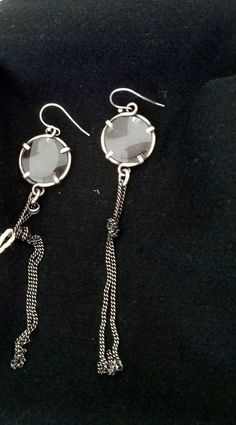 BNWT ANN DEMEULEMEESTER SILVER AND GLASS EARRINGS,828$ #ANNDEMEULEMEESTER