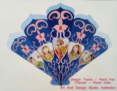 Subject :- Design , Design Topics :- Hand fan Themes :- Royal India Colour Medium :-Poster Colours Course:- Elementary& Intermediate Drawing grade exam. Art And Design Studio Institution India Colors, Colours, Elementary Drawing, India Art, Poster Colour, Drawing Practice, Drawing For Kids, Hand Fan, Design Design