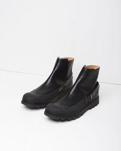 MM6 by Maison Margiela | Calfskin Rubber Boots | La Garçonne