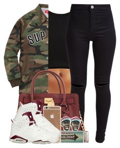 """""""Untitled #217"""" by xmonishax ❤ liked on Polyvore featuring River Island, New Look, Michael Kors, Miss Bibi and NIKE"""