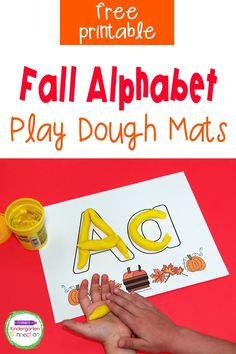 Fall leaves make excellent learning tools for kids and these fall alphabet play dough mats are no different! These free printables for Pre-K & Kindergarten are the perfect way to practice the alphabet and strengthen fine motor skills as well! Literacy Skills, Kindergarten Literacy, Writing Skills, Learning Tools, Student Learning, Fun Learning, Social Emotional Activities, Literacy Activities, Pre Writing