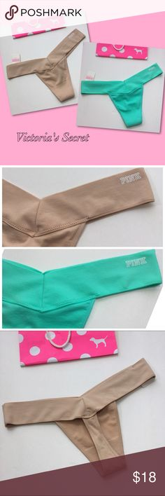 New! 2 VS PINK Thongs 2 Victoria's Secret Thongs!                                                VS PINK COLLECTION 😍                                                  🌸New with Tags!                                                           🌸Bundle to Save! PINK Victoria's Secret Intimates & Sleepwear Panties