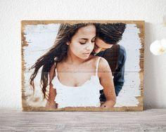 Foto auf Holz Hochzeit Vintage