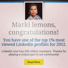 @markilemons's photo: Top 1% viewed on #LinkedIn ,can I get that to be top 1% of earners on LinkedIn? #SoMoLo in #Chicago www.linkedin.com/markilemons.