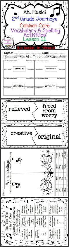 journeys henry and mudge 1 1 common core spelling vocabulary activities activities the o. Black Bedroom Furniture Sets. Home Design Ideas