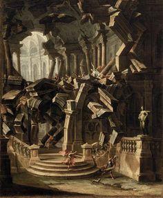 Hercule détruit le Temple d'Hera Jolli Antonio (1700-1777)