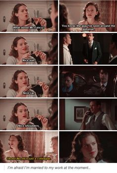 Agent Carter. I love Peggy and Angie and Peggy and Jarvis's friendship. <--- me too!