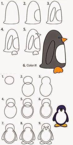 Dessiner des pingouins teaching pinterest apprendre dessiner comment dessiner et - Apprendre a dessiner un pingouin ...