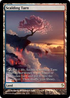 pretty good alters for Magic the Gathering Scalding Tarn
