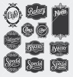 Calligraphy signs vector 1056642 - by rtguest on VectorStock®