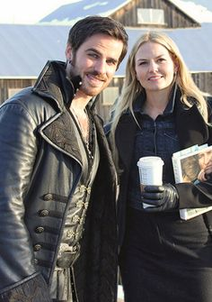 Once Upon a Time - Jennifer Morrison (Emma Swan) and Colin O'Donoghue (Captain Hook). #OnceUponATime #OUAT #TV_Show